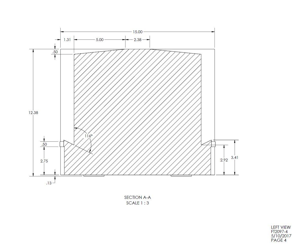20 Gallon Rectangular Shaped Fuel Tank 28 X 15 X 14 14