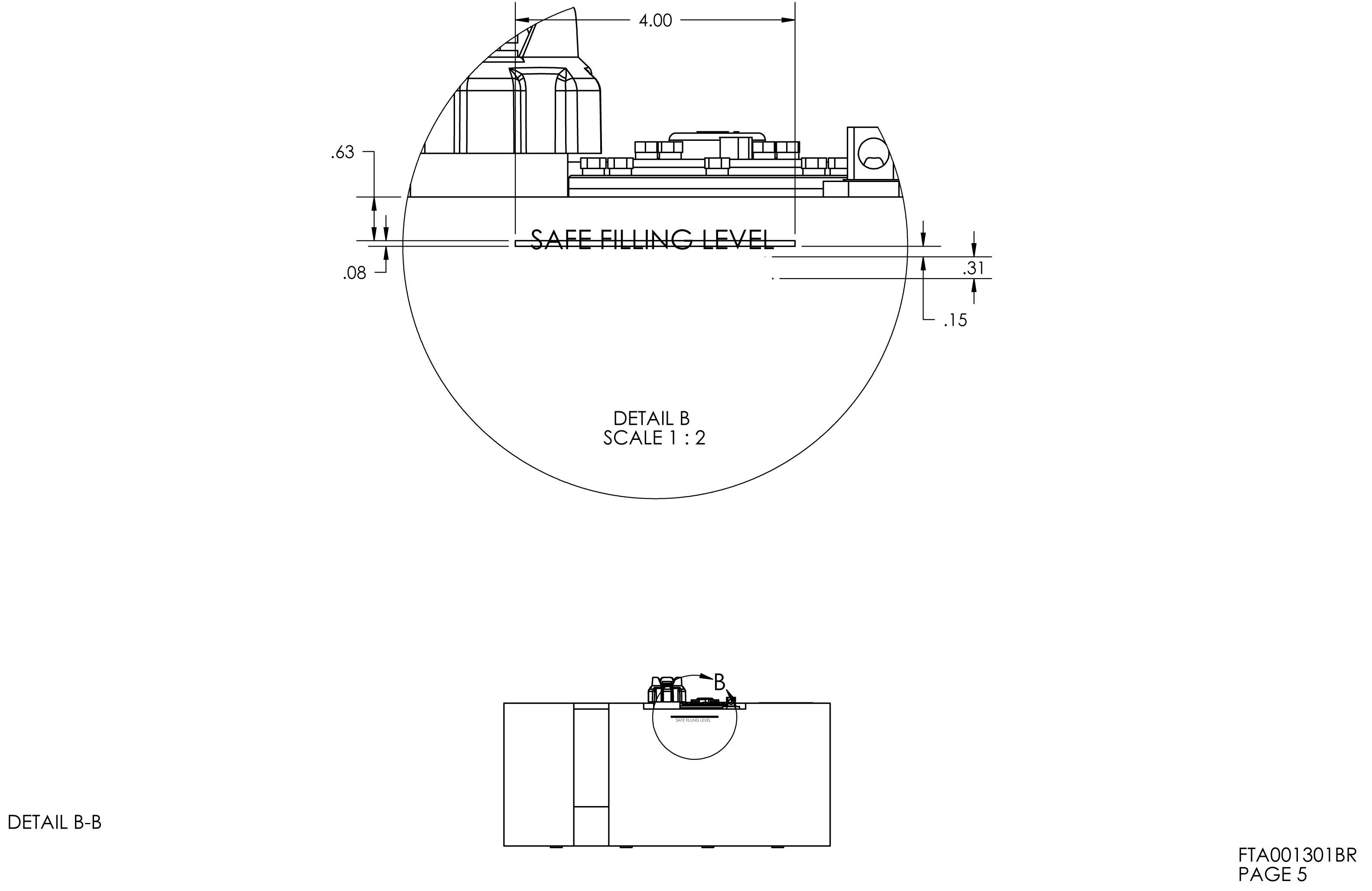 18 Gallon Rectangular Shaped Fuel Tank 28 X 15 X 12 25
