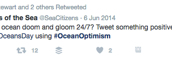 8 June 2014 – #OceanOptimism goes viral