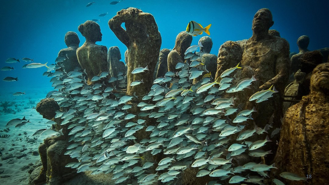 An Underwater Art Museum, Teeming with Life