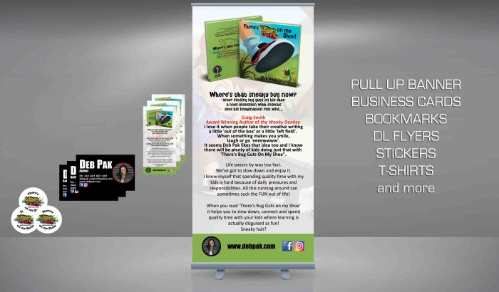 Promotional Material is essential for local promotion of you as an author and the publication.