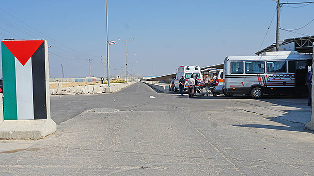 Patient at the PA checkpoint next to the Erez crossing, before leaving Gaza for a medical treatment. October, 2019