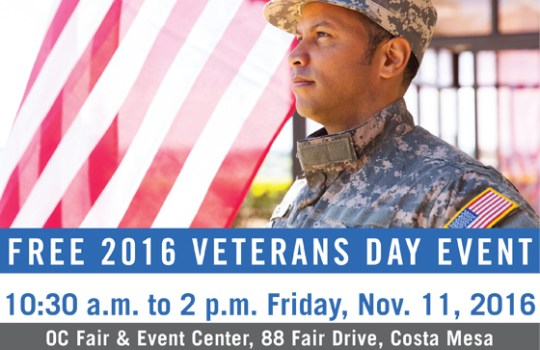 Friday, Nov. 11 (10:30 a.m.–2 p.m.): FREE Veterans Day Community Celebration