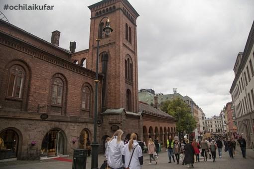Karl Johans Gate, Осло, при Катедралата