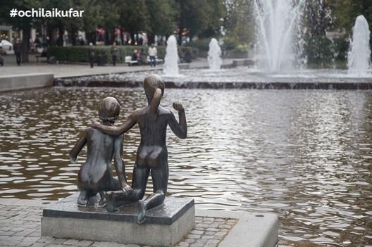Статуи в парк в Осло