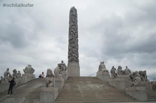 Монолитът във Вигеланд парк, Осло, част от Фрогнер парк