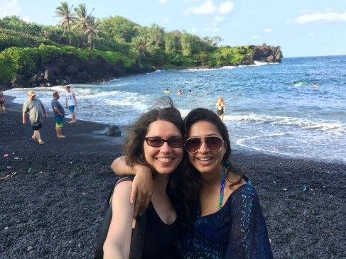 На плажа с черния пясък