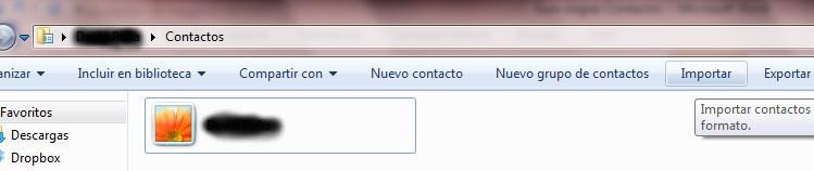 Migrar libreta de direcciones desde Thunderbird a Outlook 2010 en Windows 7 (5/6)