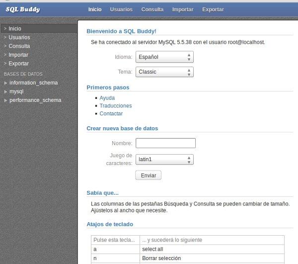 SQL Buddy, una gran herramienta MySQL (6/6)