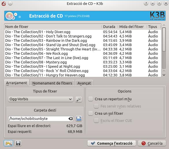 Guardar nuestra colección de cd's con K3b (5/6)