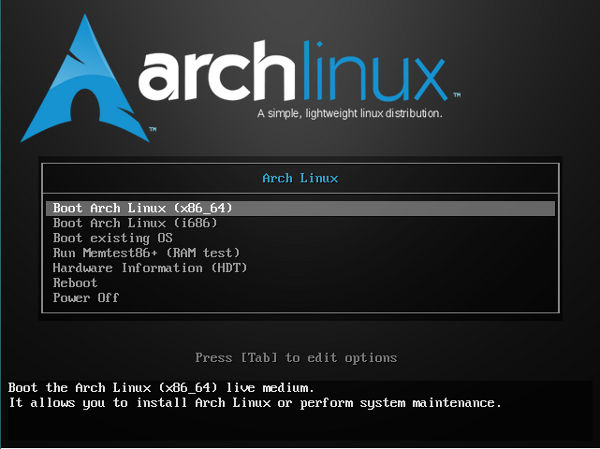 arch-welcome-screen