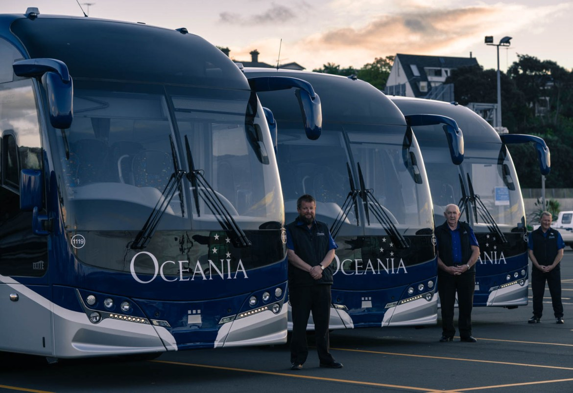 The Oceania Coachlines Bus Fleet