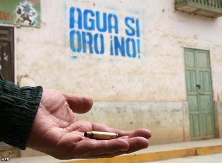 Peru Conga no va 10 bala