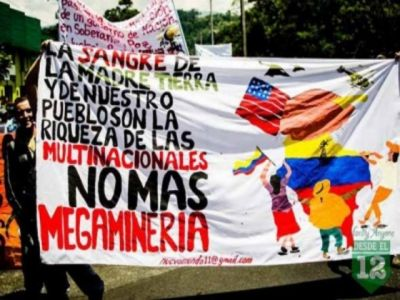 no a la mineria colombia
