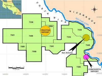mapa minera crucitas