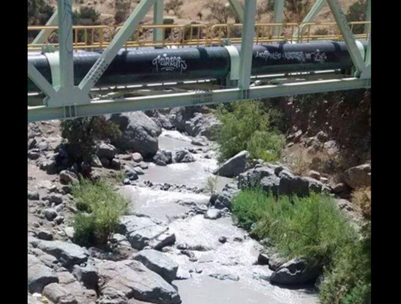 agua contaminada por relaves
