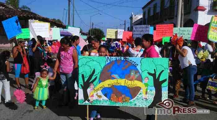 No a la mina si a la vida el lema del desfile en Zanatapec