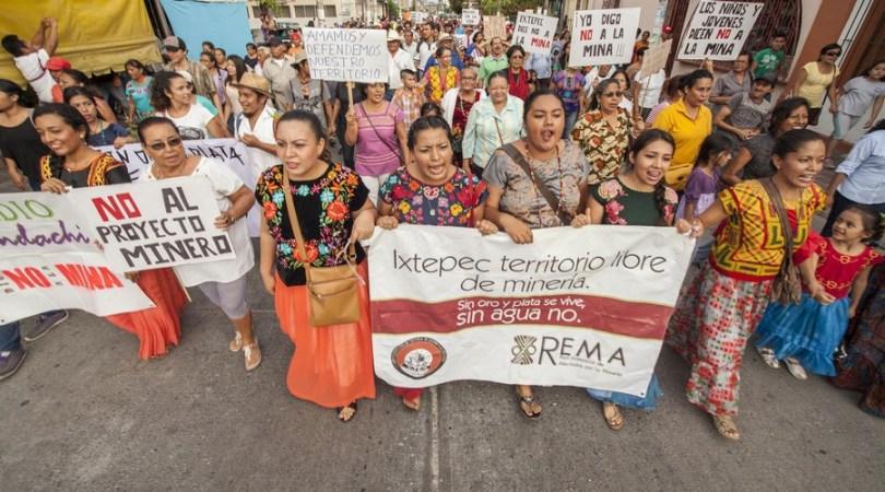 marcha contra mineria ixtepec
