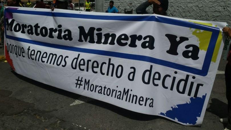 moratoria minera ya ecuador