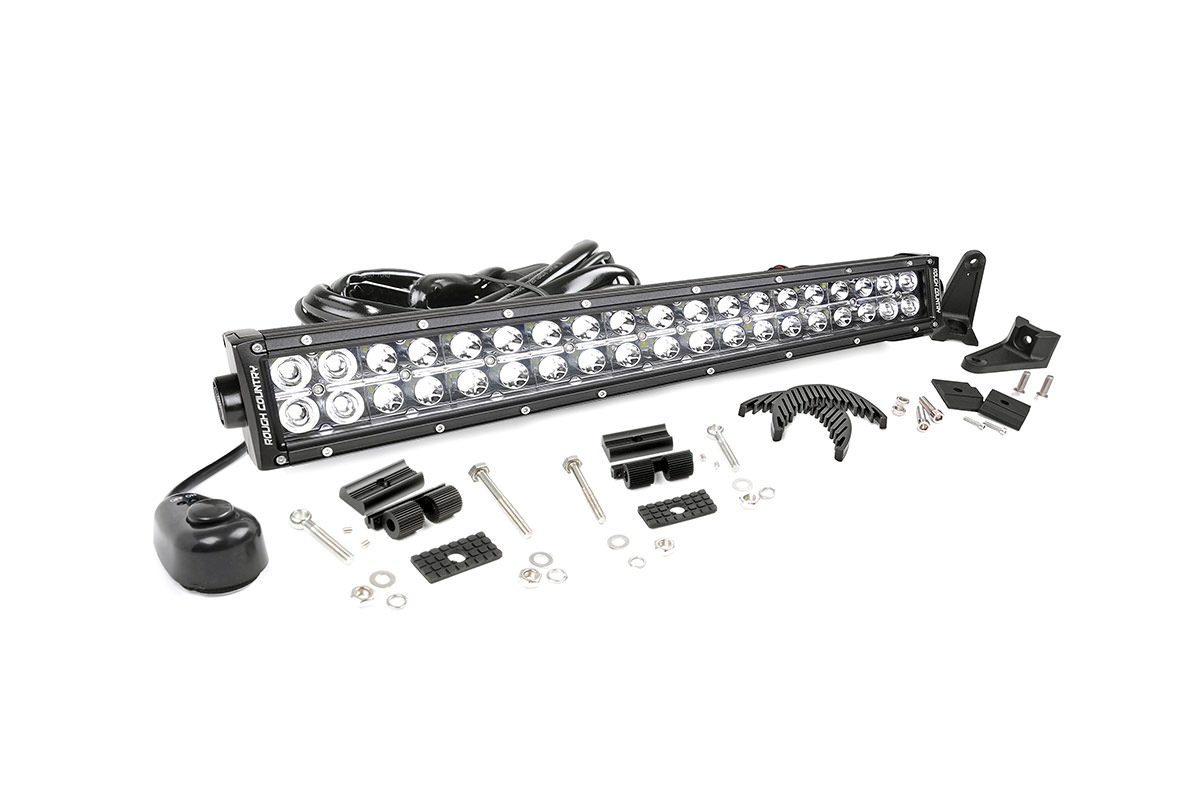 20 Inch Chrome Series Dual Row Cree Led Light Bar Fits