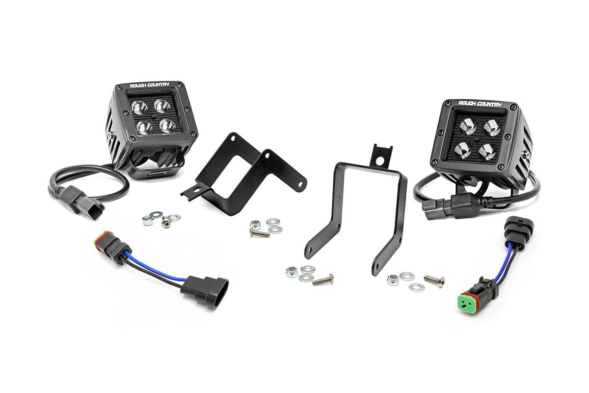 2 Inch Black Series Cree Led Fog Light Kit Ford Super