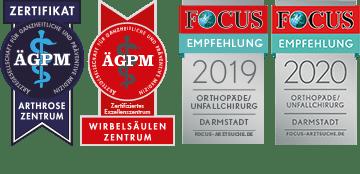 Focus-Online-Empfehlung und Zertifikat