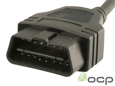 11760-03-300-09 - OBD II J1962 Cables Male To Blunt End Cut, 9 X 24AWG, 8 FT