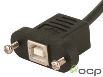 Panel Mount USB B Ext Cable Female to Male
