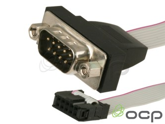 Panel Mount DB9 Male Serial Port with Bracket