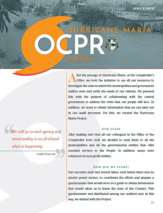 OCPR in Action booklet. Folleto OCPR en Acción en Inglés