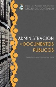 Portada Folleto Administración de Documentos Públicos
