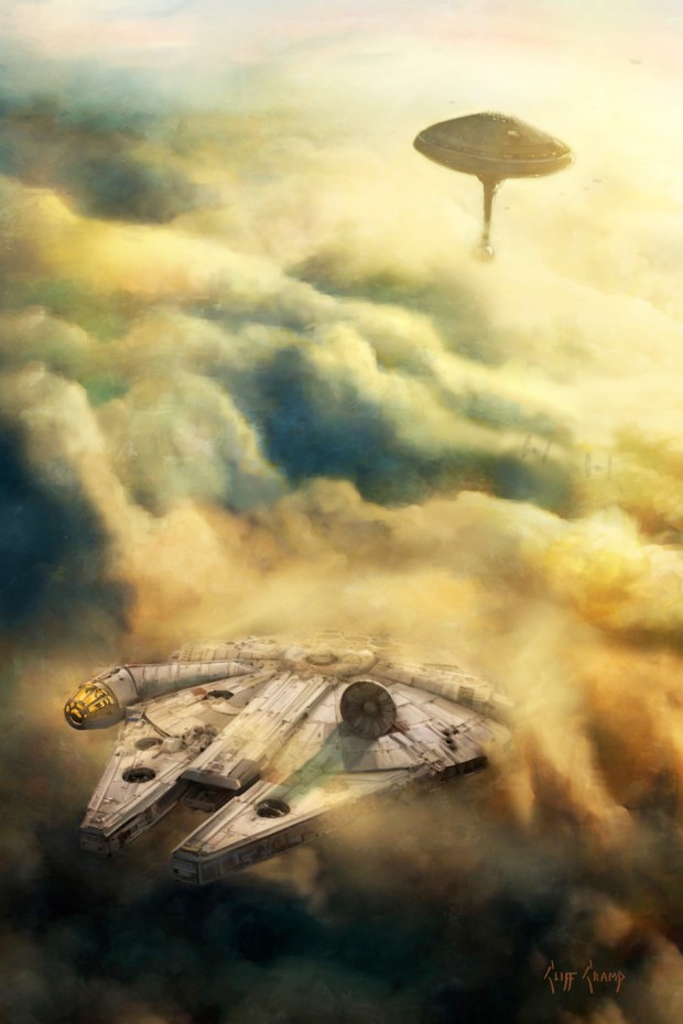 "Cliff Cramp's ""Leaving Bespin""released Thursday at Star Wars Celebration in Orlando. Courtesy of Cliff Cramp."