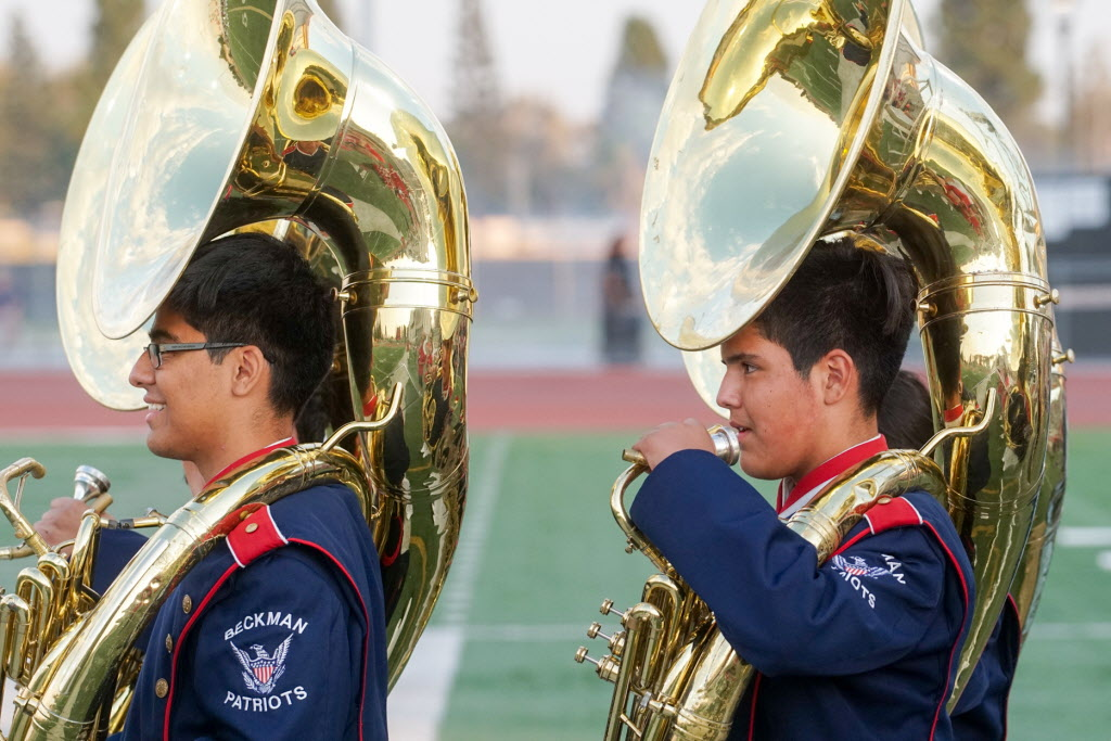 Image result for tuba player pictures on football fields