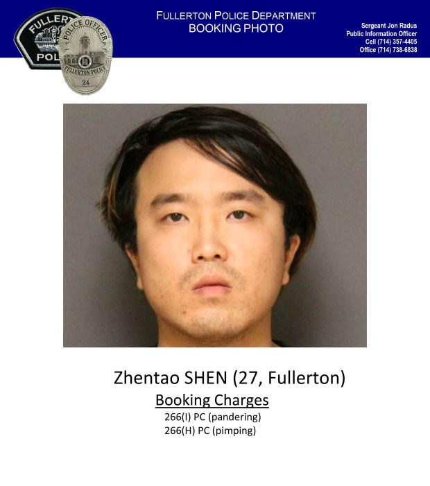 Zhentao Shen, 27.Photo courtesy Fullerton Police