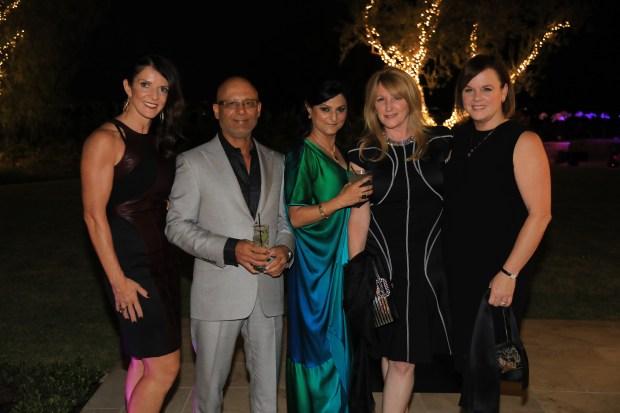 Melissa Knode, Pawan and Seema Seth, Jennifer Segerstrom, and Kathryn Cenci.