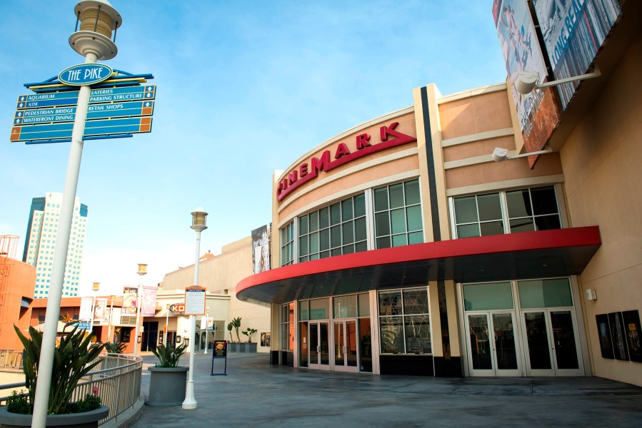 Cinemark starts ban on big bags in all its movie theaters  including     The Cinemark at the Pike in Long Beach is one of 21 Southern California  theaters that will ban large bags starting Thursday  Feb  22