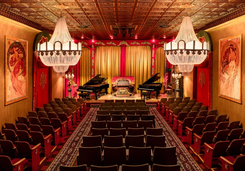 These are 19 of the most unusual Southern California movie theaters     The Old Towne Music Hall in El Segundo in noted for screening silent films  with accompaniment on a 1925 Mighty Wurlitzer theater pipe organ