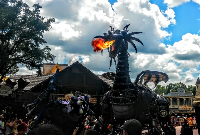 The Maleficent Dragon Float In The Festival Of Fantasy Parade At Walt Disney World Shown Last Year Caught Fire Friday Photo By Ivan Curra
