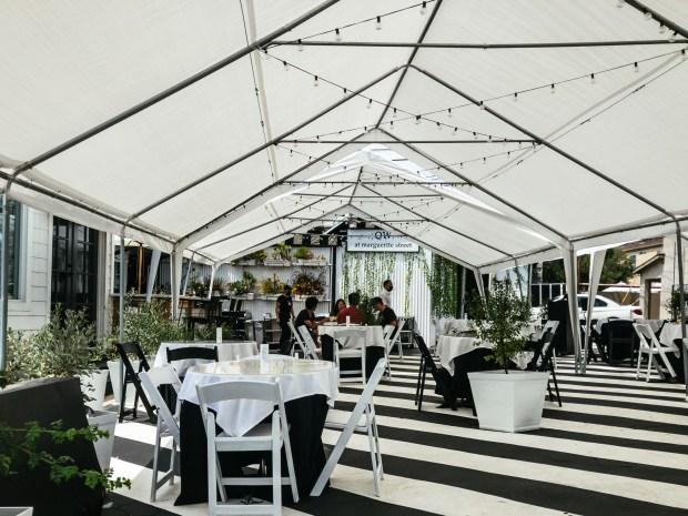 The new dining tent at The Quiet Woman in Corona del Mar (Photo by Brad A. Johnson, Orange County Register/SCNG)