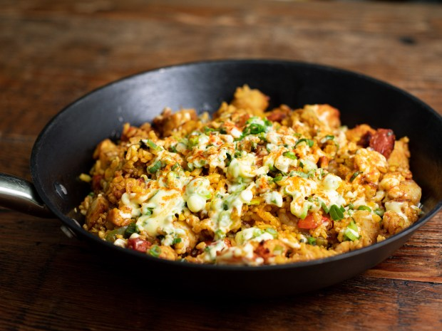 Paella Valenciana from the takeout menu at Vaca in Costa Mesa (Photo by Brad A. Johnson, Orange County Register/SCNG)