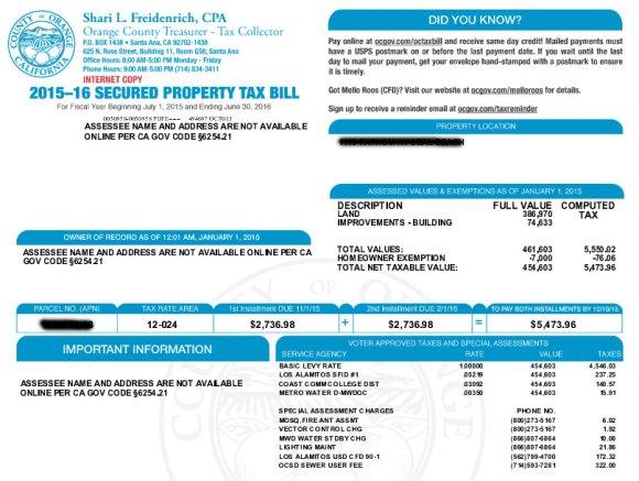 O.C. tax roll tops $500 billion – Orange County Register