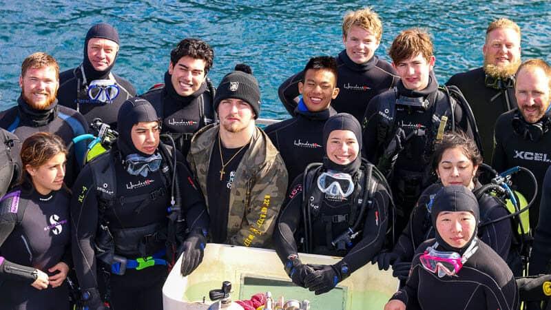 Scuba club explores off of the coast of Catalina Island
