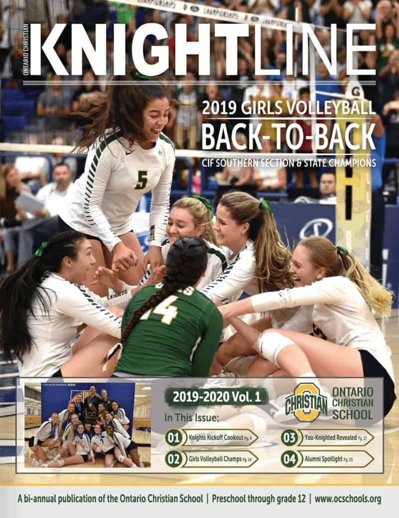 Knightline 2019-2020 Volume 1 Magazine Cover
