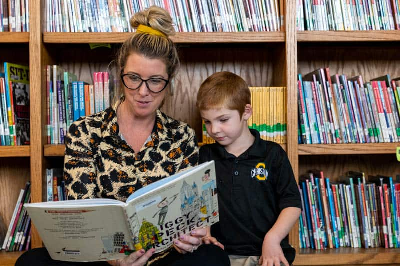 Ontario Christian elementary students enjoy access to our school library