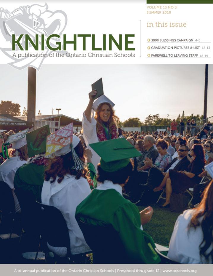 Knightline Magazine Summer 2018 cover