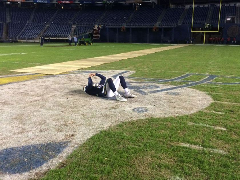 Eric Weddle after last home game as a Charger