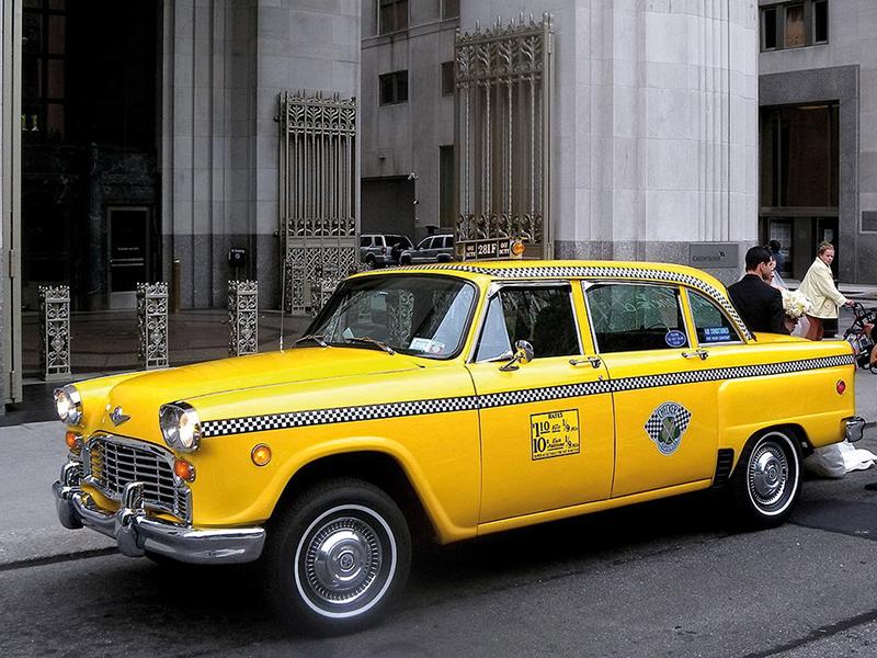Checker Cab parkend