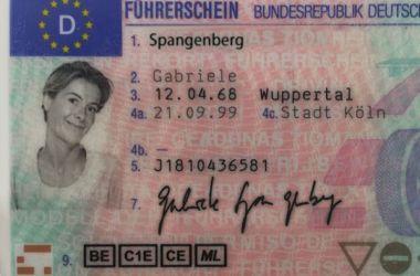 Führerschein von Gabriele Spangenberg