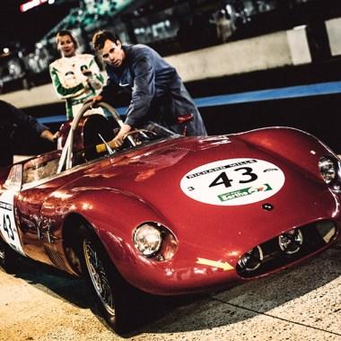 Gabriele Spangenberg hinter dem OSCA Tipo S-498