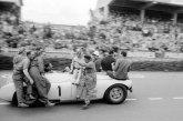 Le Mans, 1953: Cunningham C4-R mit Teamchef Briggs Cunningham am Steuer